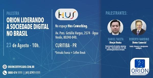 Orion Liderando a Sociedade Digital no Brasil